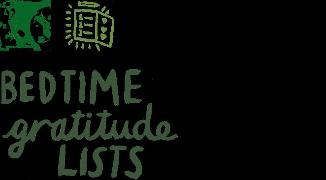 Bedtime gratitude lists
